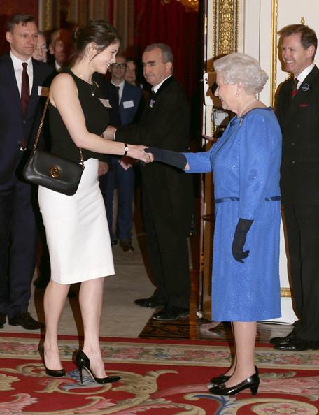 Queen Elizabeth II and Gemma Arterton