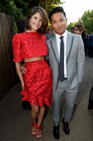 Gemma Arterton and designer Prabal Gurung